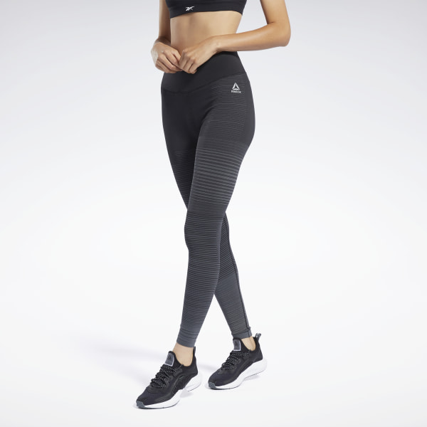 Stay visible and comfortable during your evening run. These running tights have a revolutionary seamless construction designed to help you be seen in low light conditions. Lightweight fabric and mesh make them feel airy and ventilated. They have a flexible, soft feel to keep you comfortable throughout your workout. 91% nylon / 7% elastane / 2% polypropylene seamless Designed for: Running, day or night Fitted fit Knitted reflective yarn provides visibility without extra bulk Seamless mesh allows for increased breathability Engineered ribbed hem offers added stretch and recovery Imported