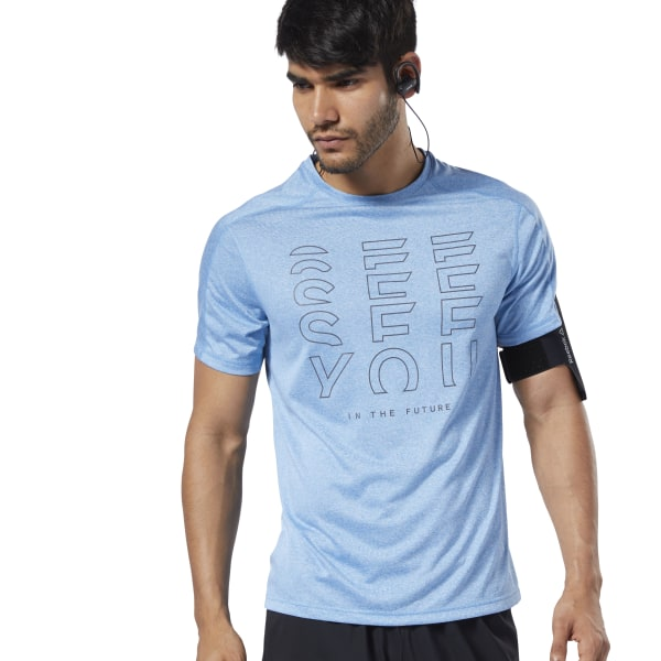 5f6e068df7 Reebok One Series Running Reflective Move Tee - Turquoise | Reebok MLT