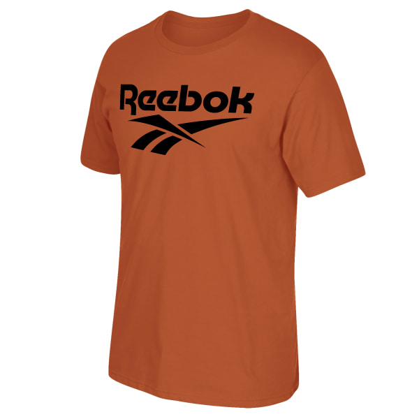 Get decked for the gym or Halloween in this men\'s training t-shirt. It\'s made of all-cotton for a soft, comfortable feel. A Vector graphic on the front shows your Reebok pride. 100% ring spun cotton Crewneck Short sleeves UFC graphic Imported