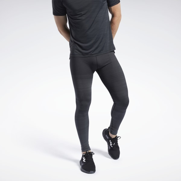 Stay visible and comfortable during your evening run. These running tights have a revolutionary seamless construction designed to help you be seen in low light conditions. Lightweight fabric and mesh make them feel airy and ventilated. They have a flexible, soft feel to keep you comfortable throughout your workout. 82% nylon / 7% elastane / 4% polypropylene seamless Designed for: Running, day or night Fitted fit Knitted reflective yarn provides visibility without extra bulk Seamless mesh allows for increased breathability Engineered ribbed hem offers added stretch and recovery Imported