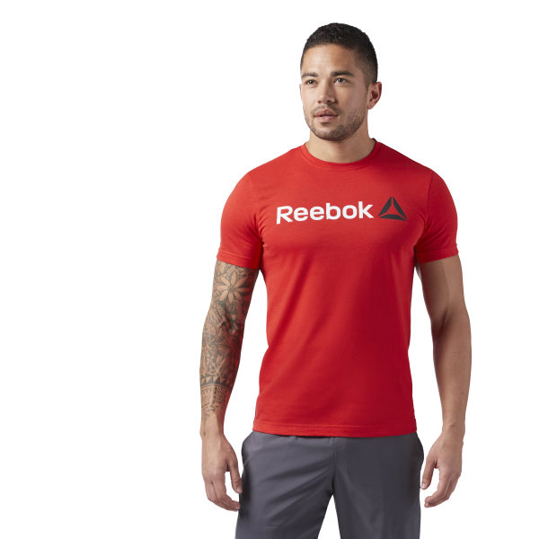 b749fb390 Reebok Linear Read Tee - Red | Reebok MLT