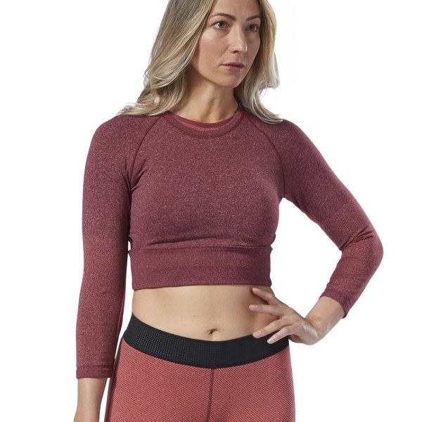 f84ef3ce93 Reebok CrossFit® MyoKnit Cropped Tee - Red | Reebok Norway