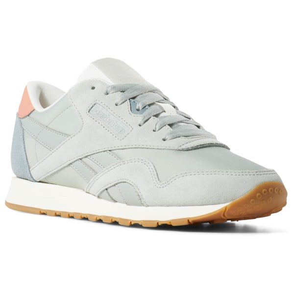 b86e623d4 Tenis Classic Leather NYLON color block-sea spray   teal fog   pink   chalk