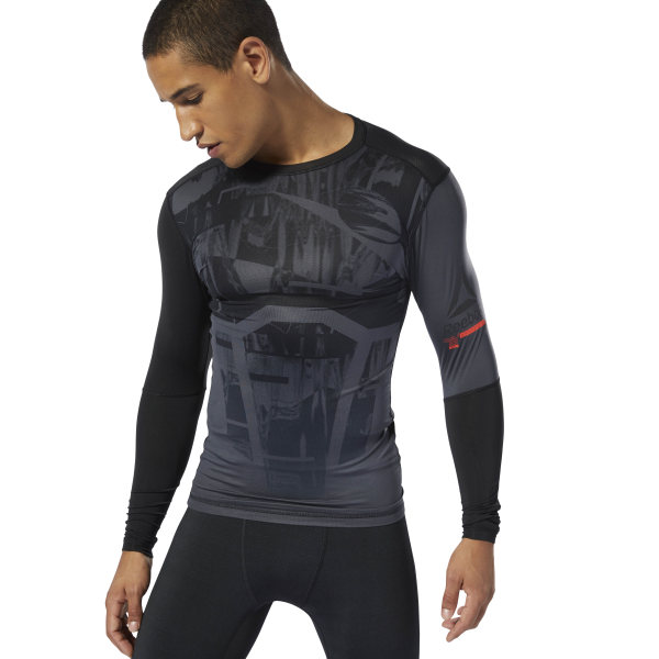 f2e939c848 Reebok Training Compression Tee - Grey | Reebok MLT