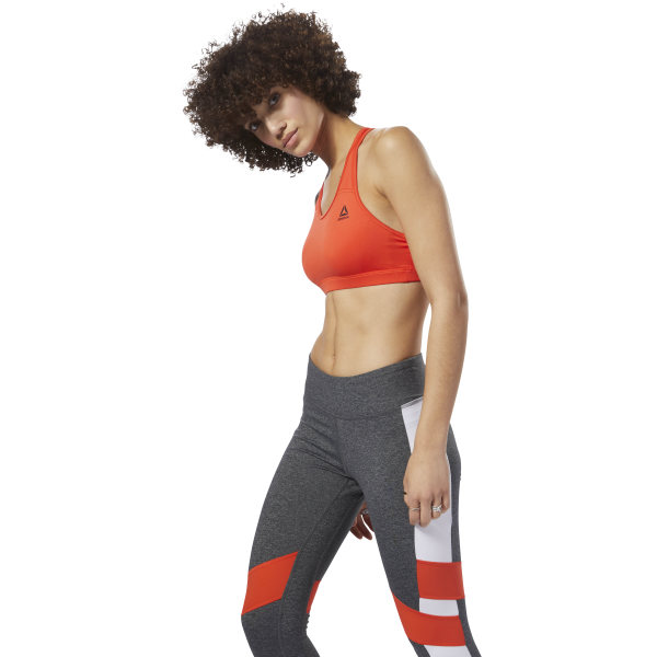 64722ba5a1 Reebok Workout Ready Racerback Bra - Red | Reebok MLT
