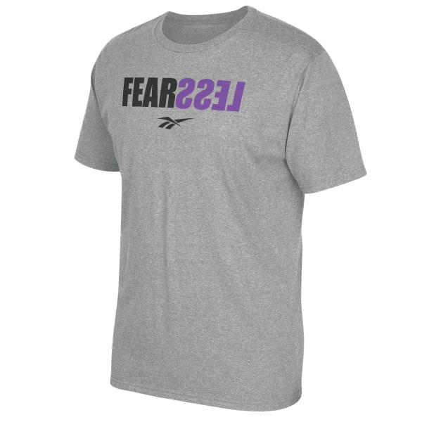 Be fearless in the gym and in life. This men\'s t-shirt is made of cotton-blend jersey for all-day comfort. 90% ringspun cotton / 10% polyester single jersey Crewneck Short sleeves Imported