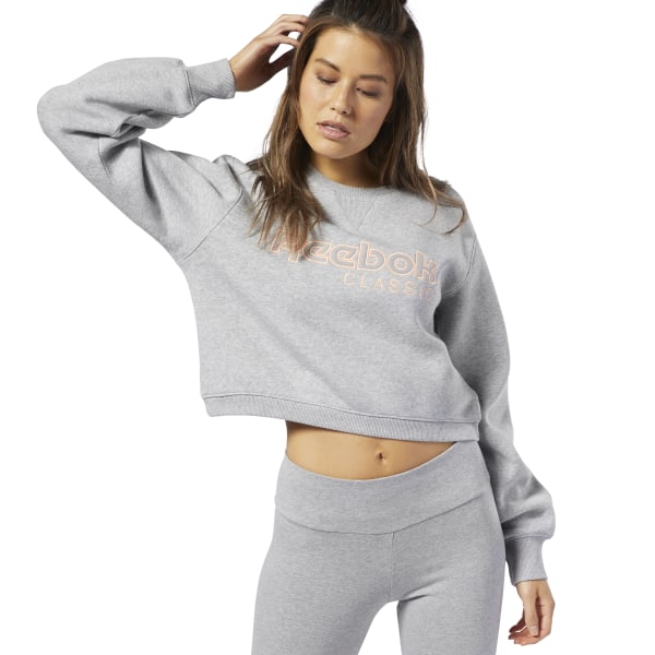 14c4288ba5 Reebok Classics Fleece Sweatshirt - Grey | Reebok Norway