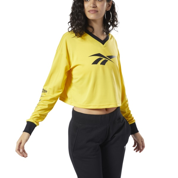 afd558e436 Reebok Classics Vector Crop Top - Yellow | Reebok Norway