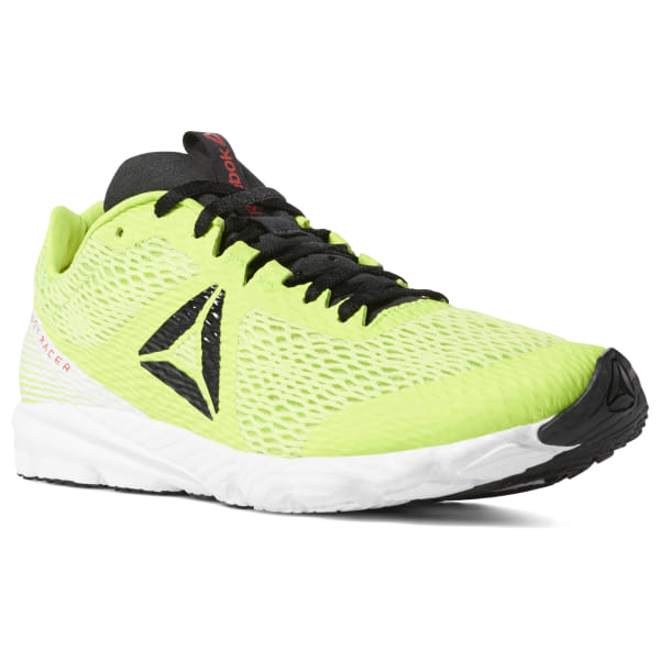 outlet store c84f9 78e35 Reebok Harmony Racer Neon Lime   Black   White   Red CN6008