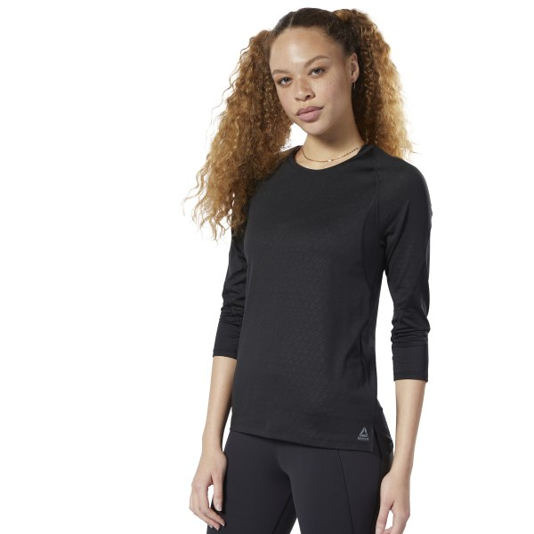 0e78aaf9bc Reebok SmartVent Long Sleeve Tee - Black | Reebok US