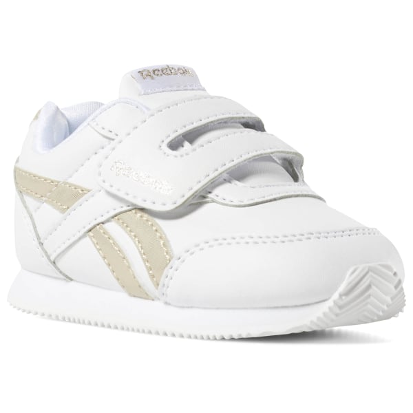 1e75de2f481 Reebok Royal CLJOG 2 KC White / Gold Metallic DV6949