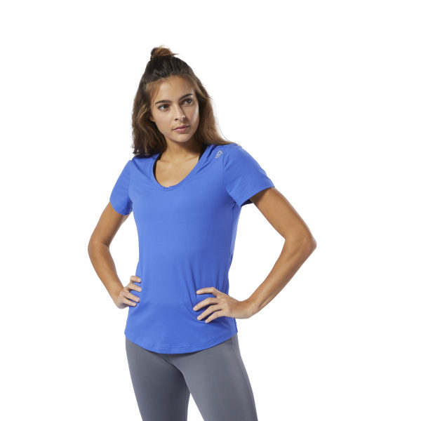 19d03706a6 Reebok Workout Ready Speedwick Tee - Blue | Reebok MLT