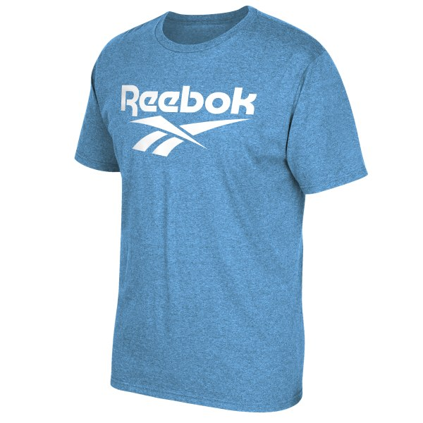 Relax in this casual Reebok logo tee, made of comfortable cotton and perfect for everyday wear 100% Ring Spun Cotton Regular fit Crew neck Imported
