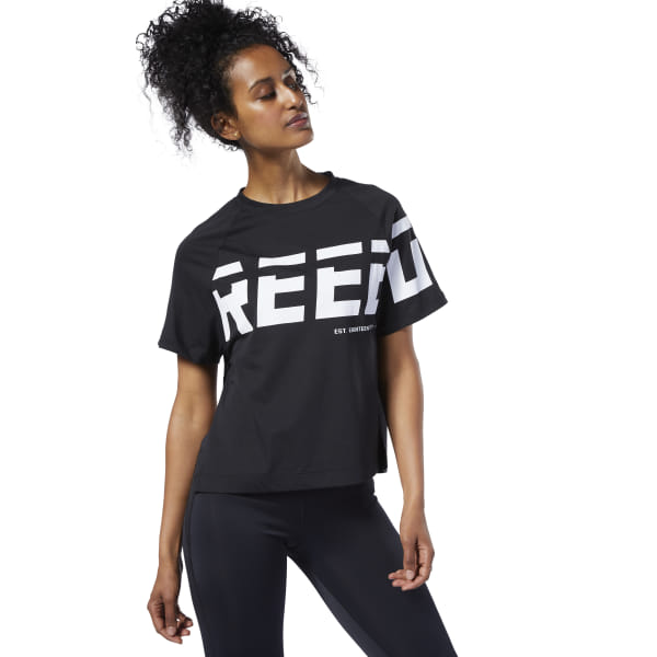 b6370f80d0 Reebok Meet You There Graphic Tee - Black | Reebok Norway