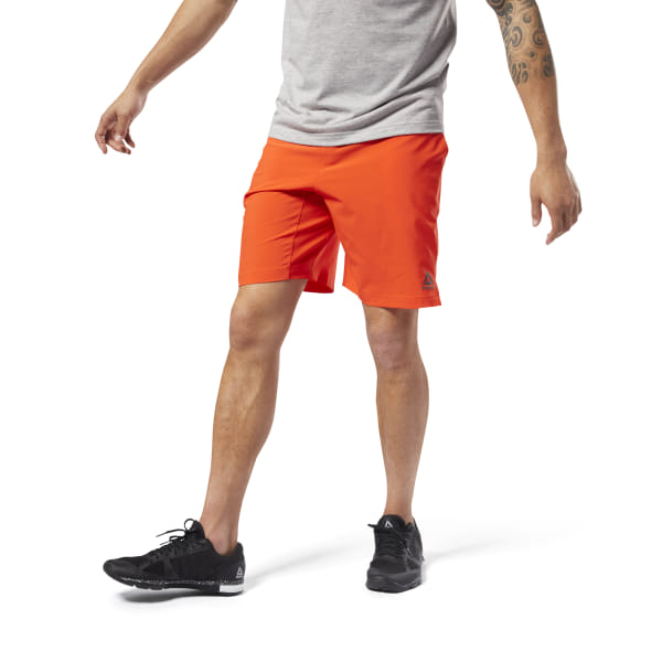 Red Clothing & Accessories Reebok Crossfit Speedwick Mens Training Shorts