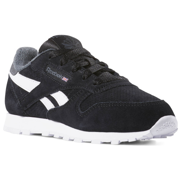 reebok classic leather black and white