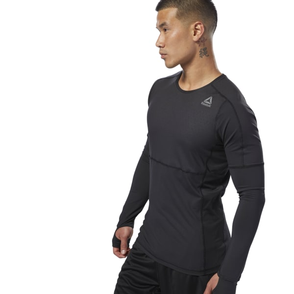 04b04a7610 Reebok ThermoWarm LS Thermal Tee - Black | Reebok MLT