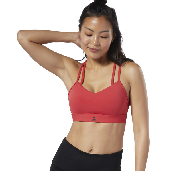 11abfb441b Reebok Hero Strappy Padded Bra - Red | Reebok US