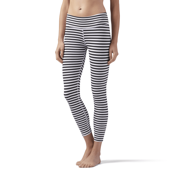 b85d9e21a1d65 Reebok Striped 7/8 Legging - White | Reebok US