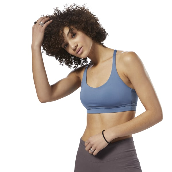 bef1cd3911 Reebok Workout Ready Bra - Blue | Reebok MLT