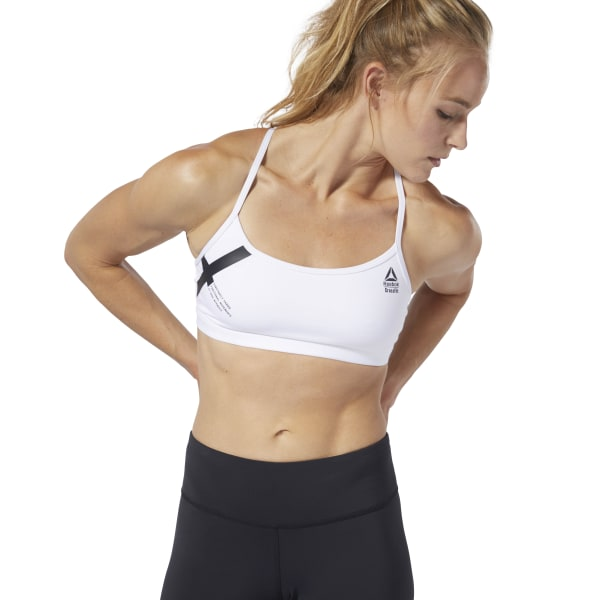 Reebok CrossFit Skinny Bra Graphic White | Reebok GB
