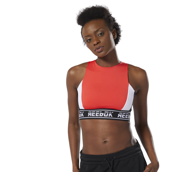 b2af434b06 Reebok WOR Meet You There Bralette - Red | Reebok MLT