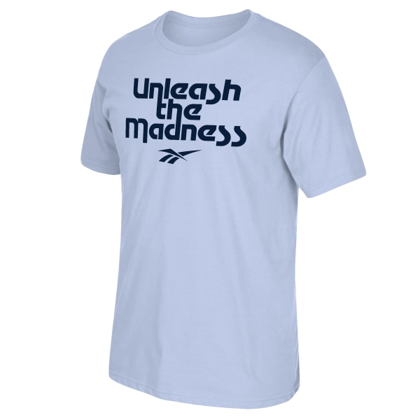 Unleash the madness with this Classic casual tee, perfect for everyday wear 65% Polyester / 35% Ring Spun Cotton Unleash the madness graphic Crew neck Regular fit Regular fit Imported