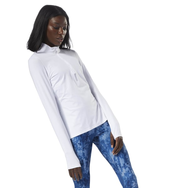 Reebok Run 14 Zip Top White | Reebok MLT