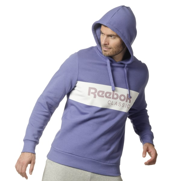 335976a1 Reebok Classics R Unisex 'Over the Head' Hoodie - Purple | Reebok MLT