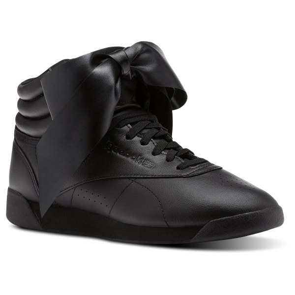 119b60d726916 Reebok Freestyle Hi Satin Bow - Black | Reebok MLT
