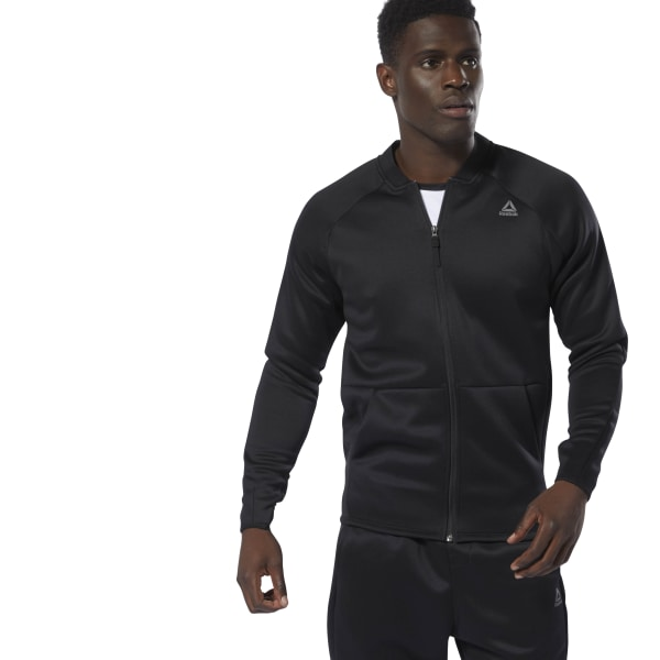 8d9fccfb2e Reebok Training Spacer Track Jacket - Black | Reebok Norway