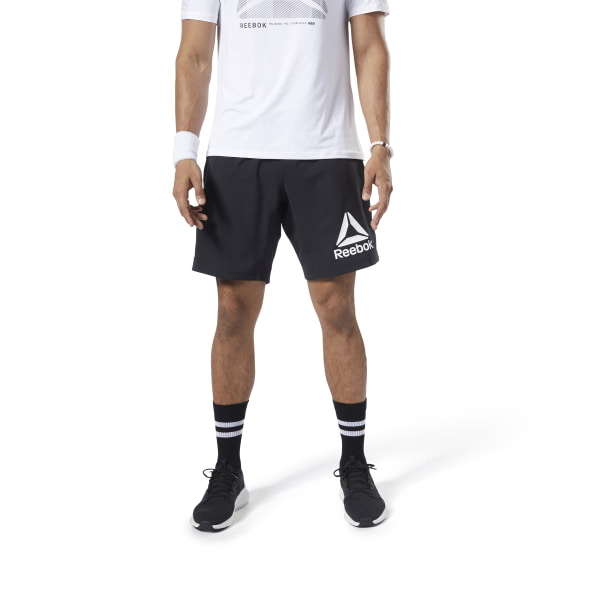 3fc0d2a28ac Reebok Workout Ready Woven Graphic Shorts - Black | Reebok ...