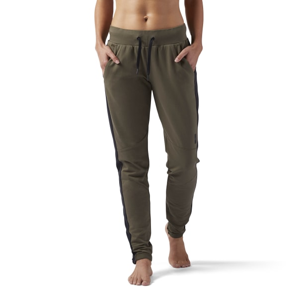 Joggingbroek Groen.Reebok Training Supply Slim Joggingbroek Groen Reebok Nederland