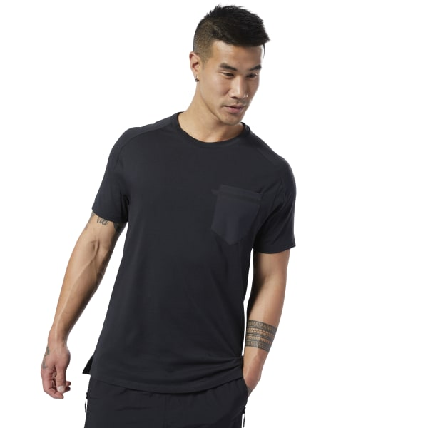 166ea0d1b6 Reebok Training Supply Move Tee - Black | Reebok Norway