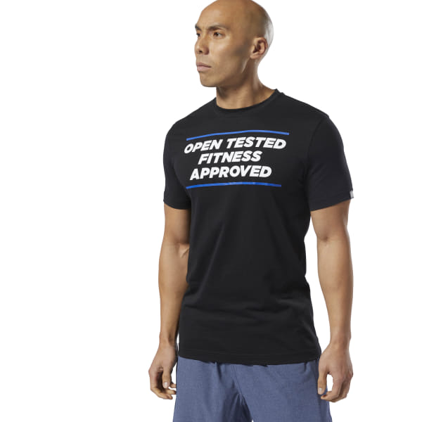 41afd0725a Reebok CrossFit® Open Tested Tee - Black | Reebok Norway