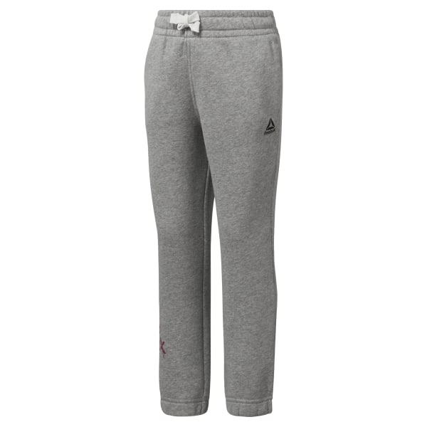 42eec1da1bf221 Reebok Girls Elements Fleece Pant - Grey | Reebok US