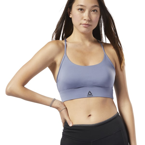1b0508f8b5 Reebok Workout Ready Low-Impact Padded Bra - Purple | Reebok Australia