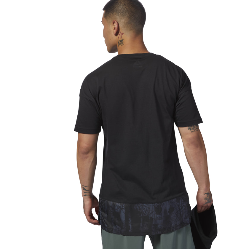 Training Essentials Knitted Woven Tee