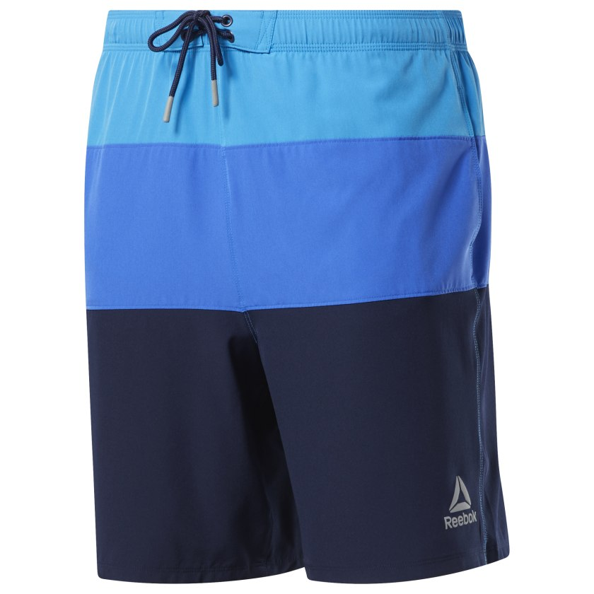Reebok-Men-039-s-Colorblock-Tab-Volley-Shorts thumbnail 17