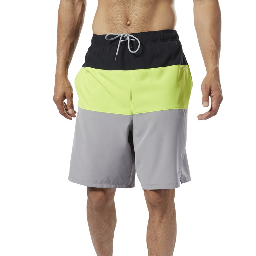 Reebok-Men-039-s-Colorblock-Tab-Volley-Shorts thumbnail 12