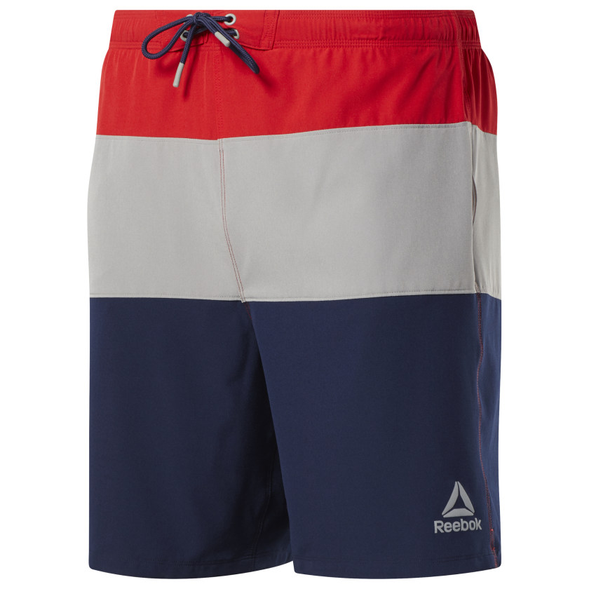 Reebok-Men-039-s-Colorblock-Tab-Volley-Shorts thumbnail 29
