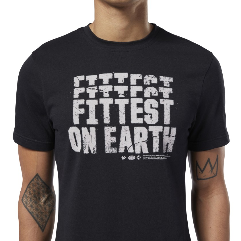 Reebok-Men-039-s-CrossFit-Fittest-On-Earth-Tee thumbnail 19
