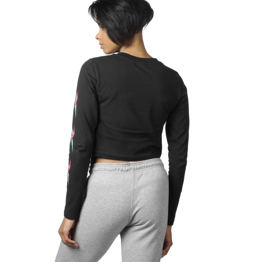 Maglia Cropped Long Sleeve