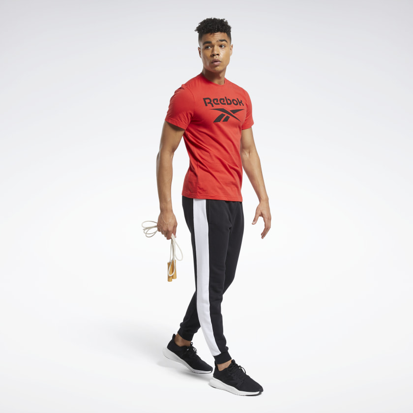 thumbnail 18 - Reebok Men's Graphic Series Stacked Tee