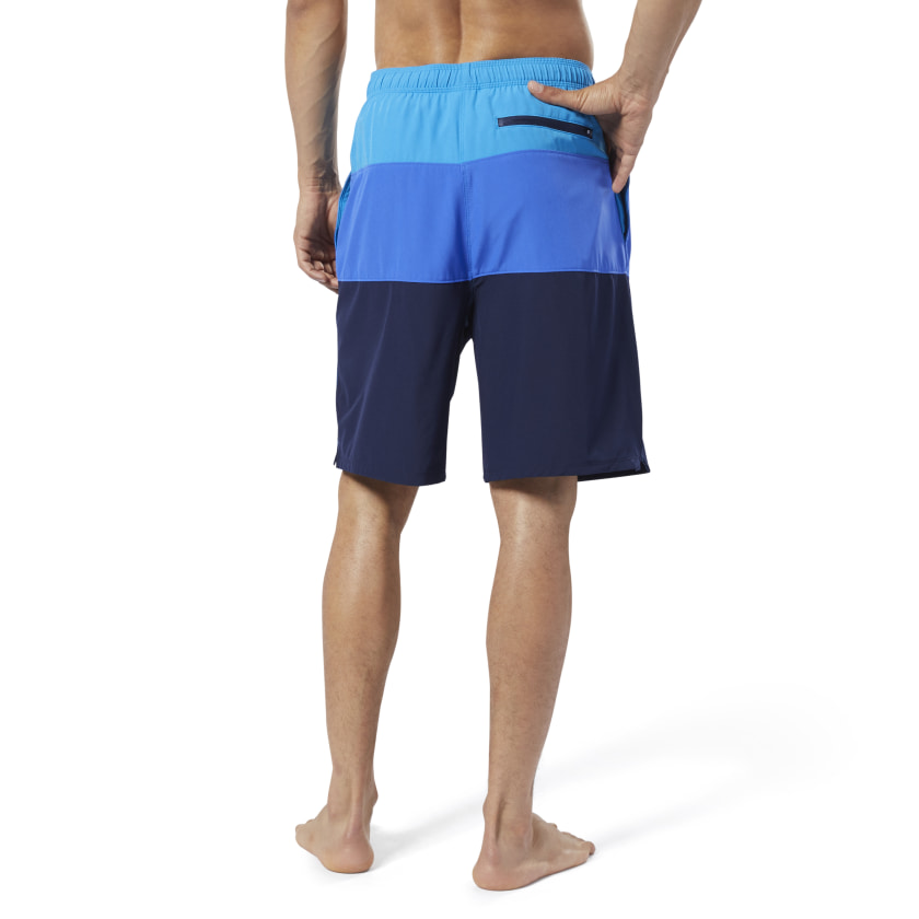 Reebok-Men-039-s-Colorblock-Tab-Volley-Shorts thumbnail 22