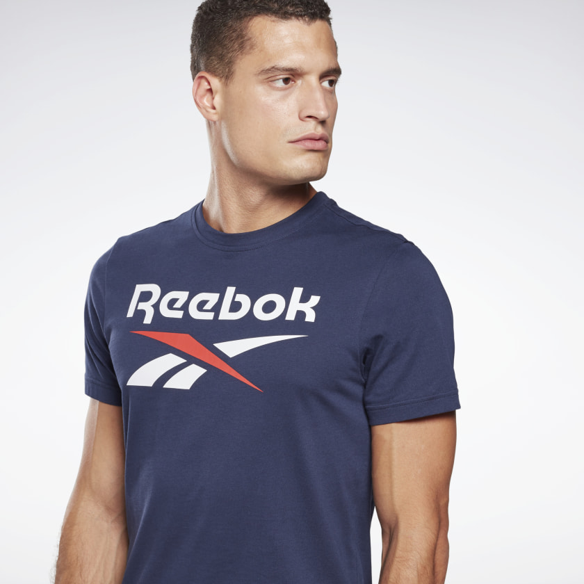 thumbnail 84 - Reebok Men's Graphic Series Stacked Tee
