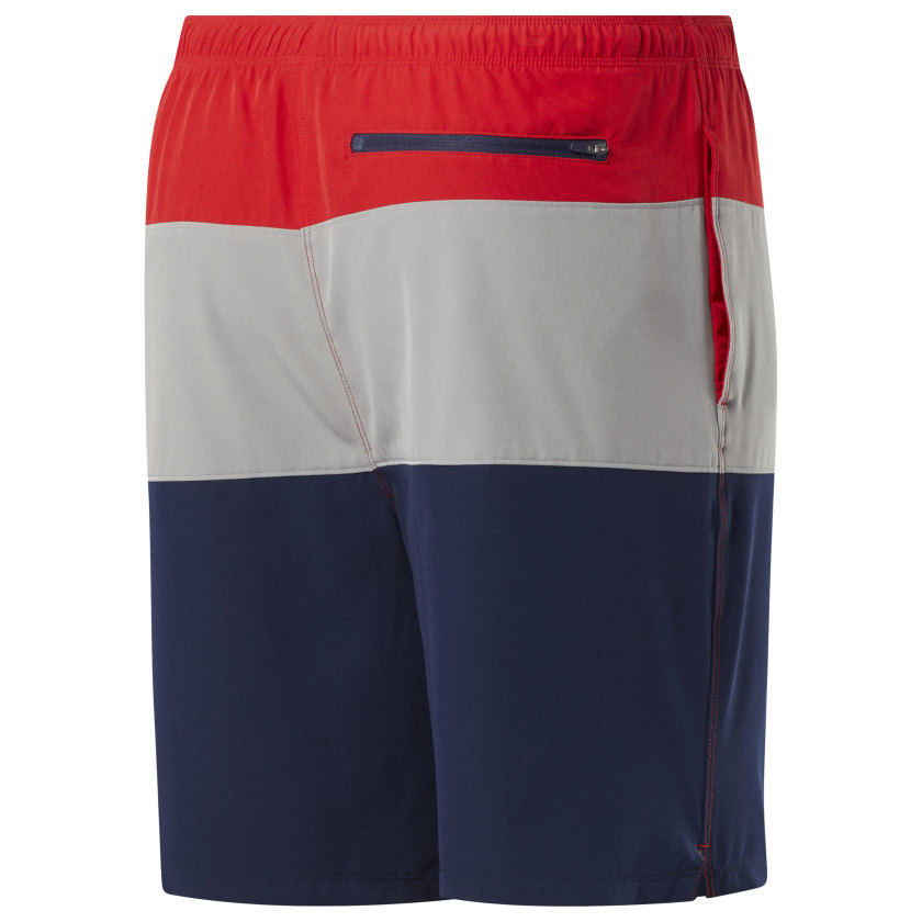 Reebok-Men-039-s-Colorblock-Tab-Volley-Shorts thumbnail 30