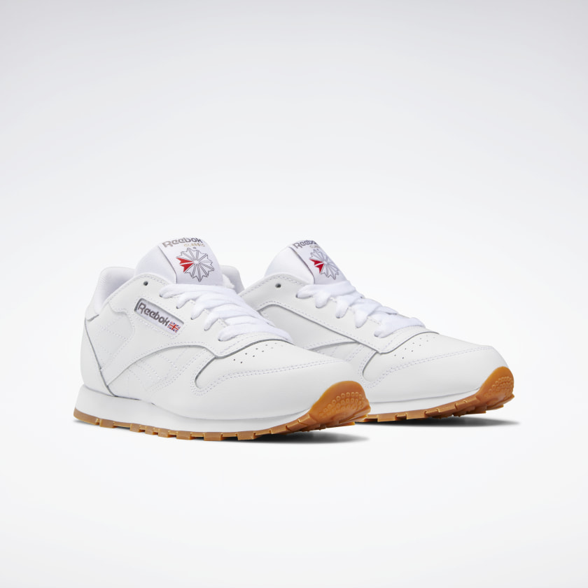 Reebok-Kids-039-Classic-Leather-Shoes-Grade-School thumbnail 40