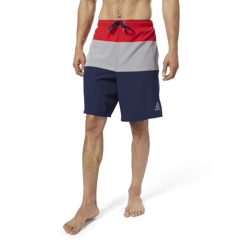 Reebok-Men-039-s-Colorblock-Tab-Volley-Shorts thumbnail 32