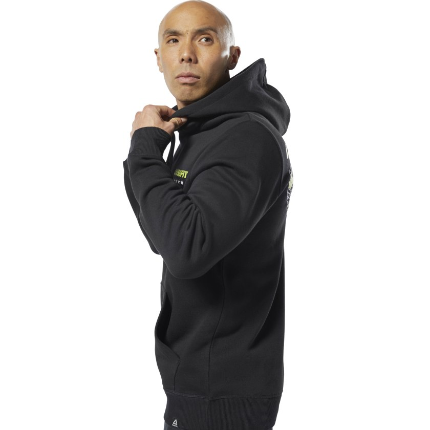 Reebok-Men-039-s-CrossFit-World-Class-Hoodie thumbnail 14